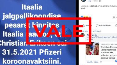 FAKTIKONTROLL | Erikseni südameriket ei põhjustanud koroonavaktsiin