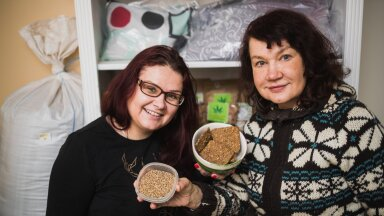 Mari-Liis ja Annika Hendrikson lisasid kinoajahu näkileibade tainasse.