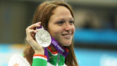 Александра Герасименя с олимпийской медалью