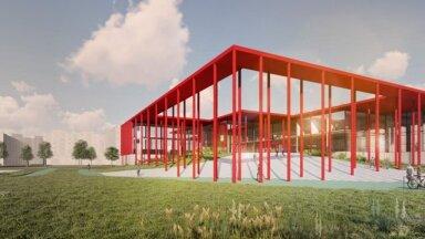 ФОТО   Красный, как название улицы. Смотрите, как будет выглядеть новый общинный дом в Ласнамяэ
