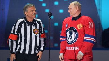 Rene Fasel ja Vladimir Putin