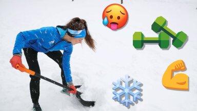 VIDEO | Lumelabida abil suveks vormi? 5 nippi, kuidas lumelükkamisest maksimum võtta