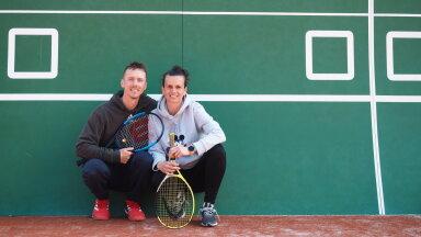 Uno Lapimaa ja Miljana Jocic töötavad koos USTA tenniseakadeemias Tondi tennisekeskuses.