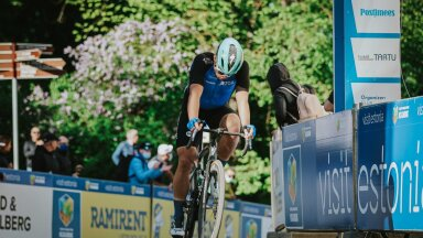 Martin Laas Tartu etapi finišis.