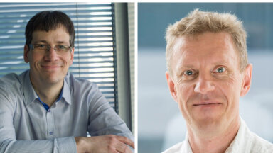 Ernst&Young Eesti partner Ranno Tingas ja tarkvaraettevõtte Uptime juht Eero Tohver.