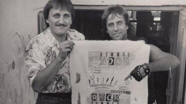 Aivar Sirelpuu ja Gunnar Graps esimesel Rock Summeril