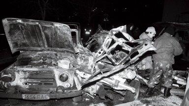 ТЕРРОР НА УЛИЦЕ ЛУБЬЯ: 14 ноября 1993 года перед домом полиции была взорвана полицейская машина. О взрыве писали почти все газеты.