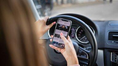 Kas veapunktisüsteem toob Eestisse ka karmimad karistused autoroolis telefoni näppimise eest?