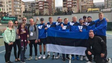 Eesti Davis Cupi delegatsioon alati päikselises Tbilisis.