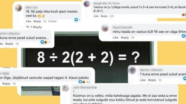 SELGITAV VIDEO | Lihtne matemaatikatehe on inimestel harja punaseks ajanud! Mis on õige vastus?