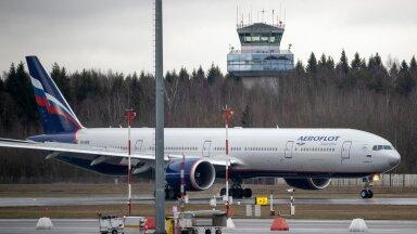 Aerofloti lennuk Tallinna lennujaamas 16.04.2020
