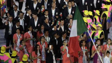 Mehhiko olümpiakoondis 2016 Rio olümpia avatseremoonial.