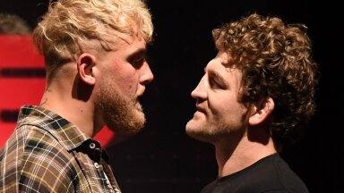 Jake Paul (vasakul) ja Ben Askren