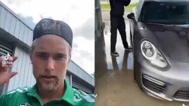 VIDEO | Õppetund kogu eluks: Eesti tippjalgpallur pani pättust teinud poisid autot küürima