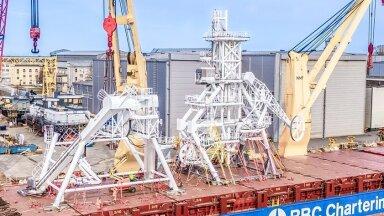 BLRT ehitatud tõstetorn teemantide veealuseks kaevandamiseks
