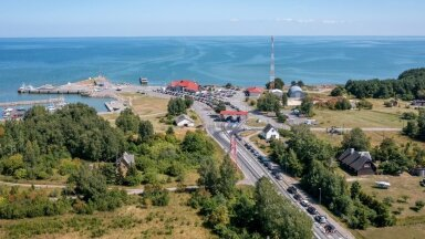 Olukord Hiiumaal Heltermaa sadamas