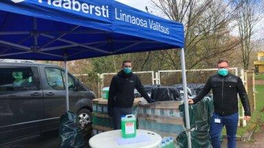 Haaberstis jagati korteriühistutele 3000 liitrit puhastusvahendit