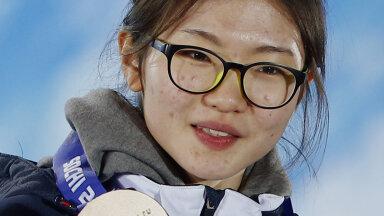Shim Suk-hee Sotši taliolümpial, kus ta võitis kolm medalit.