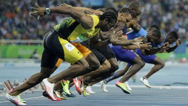Meeste 100 meetri finaal Rios, kus andsid tooni USA ja Jamaica jooksjad