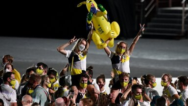 Austraalia olümpiasportlased Tokyos.