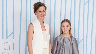 Näitleja Evelin Võigemast ja  tütar Loviise Võigemast