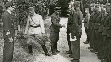 VAENLASE TAGALASSE: Bruno Linneberg 1942. aastal Soomes koos Abwehri poolt Nõukogude Liitu saadetava sabotaažiüksusega.