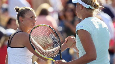 Vera Zvonarjova alistas Kaia Kanepi 2010. aasta US Openi veerandfinaalis 6:3, 7:5.