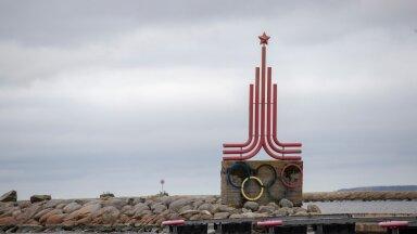 Ajaloolised ja nõukogudeaegsed sildid Tallinna linnapildis. Pirital peeti 1980. aasta Moskva olümpiamängude purjeregatt.