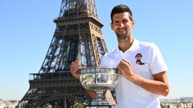 Novak Djokovic, Eiffeli torn ja Prantsusmaa lahtiste võidukarikas