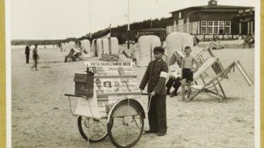 Müügikäruga poiss Pirita supelrannas, 1920ndad