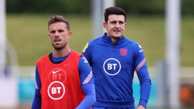 Jordan Henderson (vasakul) ja Harry Maguire teevad täna selle EM-i debüüdi.
