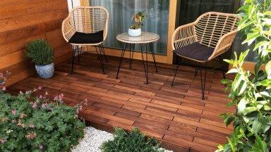 Puidust terrassipõrand, mille saad koju maha ilma ehitajata