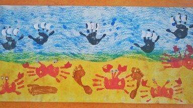 Jäljed rannas,Tallinna Vikerkaare lasteaed
