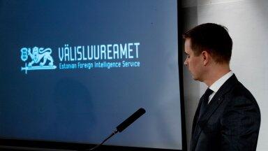 Välisluureamet tutvustas aastaraamatut 12.03.2019. Pildil peadirektor Mikk Marran.