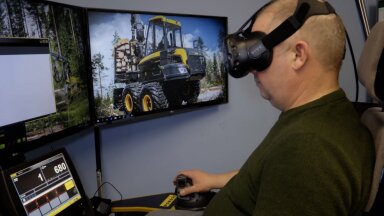 KAAMERAGA MAAL | Luua metsanduskoolis aitab keerulist ametit õppida virtuaalreaalsus