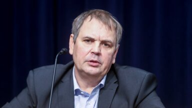 Jens Haug Esoniale sukeldumise pressikonverentsil detsembris 2020