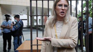 NAVALNÕI TIIMIST: Ljubov Sobol augusti alguses Moskvas pärast tema üle peetud kohtuistungit.