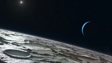 Kunstniku nägemus vaatest Tritoni pinnale (Foto: Wikimedia Commons / ESO, L. Calçada)