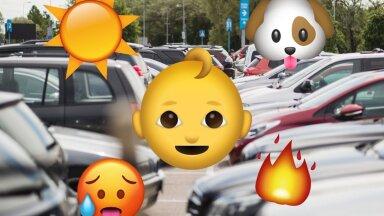 VIDEO   Ära jäta last üksi autosse! Vaata, kui kiiresti muudab suvine päike salongi talumatult kuumaks
