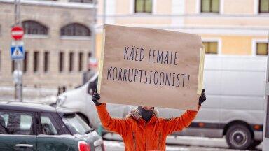 FOTOD   Kapo ees avaldati meelt korruptsiooni kaitseks