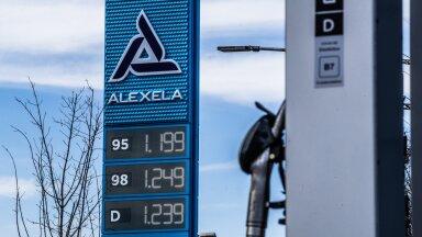 Kütusehinnad Tallinna bensiinijaamades.