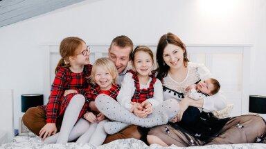 Britt (29) ja Bruno (35) koos Eileeni (6), Ella (4) ja Eloise'iga (2) tervitasid hiljuti neljandat last Milot (2 k).
