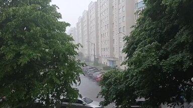 ВИДЕО   Ласнамяэ неожиданно накрыл мощнейший ливень