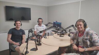 Robert Täht, Karl Rinaldo ja Rivo Vesik Delfi stuudios.