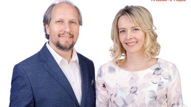 Ведущие утренней программы «Полный вперёд!» на «Русском Радио» Олег Фёдоров и Таня Светлая