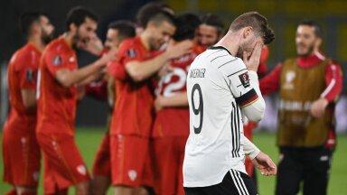 Timo Werner ja juubeldavad Põhja-Makedoonia jalgpallurid