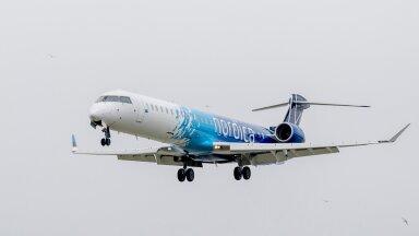 Самолет Nordica вернулся в Таллиннский аэропорт сразу после взлета