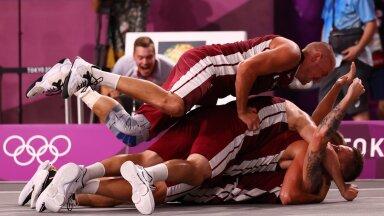 Võidu puhul külakuhja moodustanud lätlastele pole põhjust 3 x 3 korvpalli olümpiale kuulumist ette heita. Nemad võitsid selle, mida võimaldati.