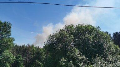 Pääsküla raba põleb.