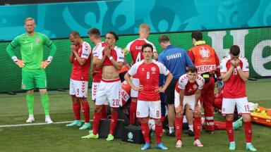 OTSEBLOGI | Taani koondise põhistaar langes teadvusetuna murule ning viidi peale pikka elustamist kiirabiga minema. Mängija on haiglas stabiilses seisus, UEFA korraldab Taanile ja Soomele kriisikoosoleku